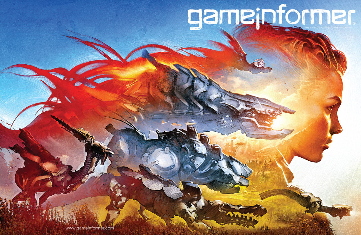 horizon zero dawn game informer cover
