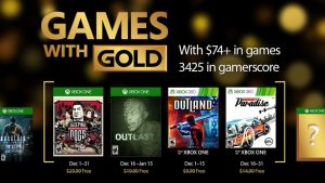 Xbox Live Games With Gold For December Include Sleeping Dogs, Outlast, and Burnout Paradise