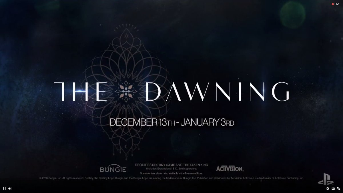 Destiny Is Celebrating Christmas With 'The Dawning'