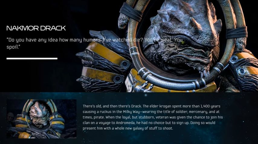 Mass Effect Andromeda Video Introduces Drack The Krogan