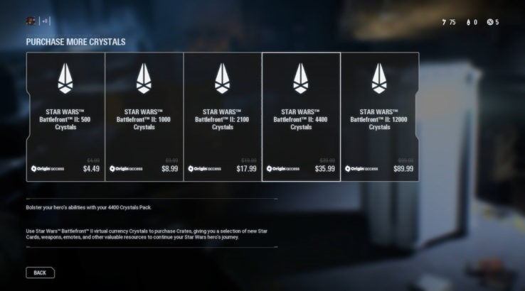Star Wars Battlefront 2 Crystals