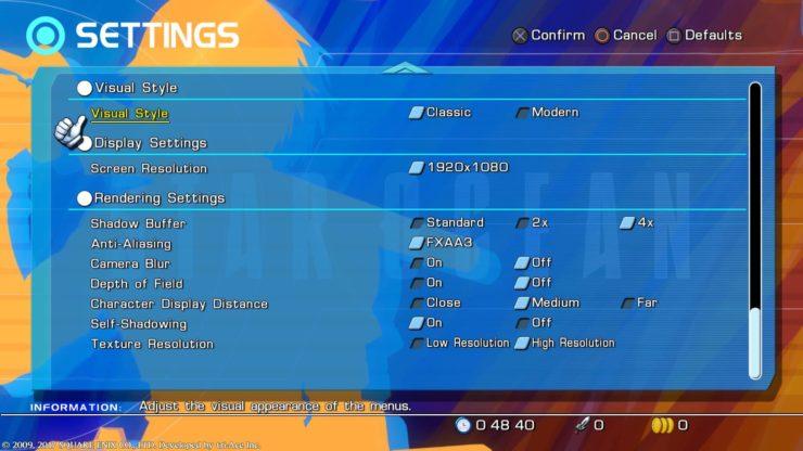 star ocean 4 remaster settingsstar ocean 4 remaster settings