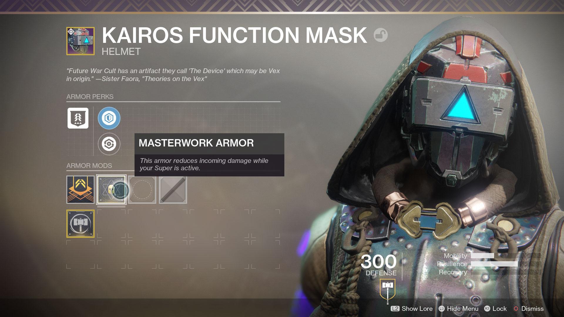 Destiny 2 Masterwork Armour