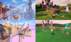 Spyro Reignited Trilogy comparison shots