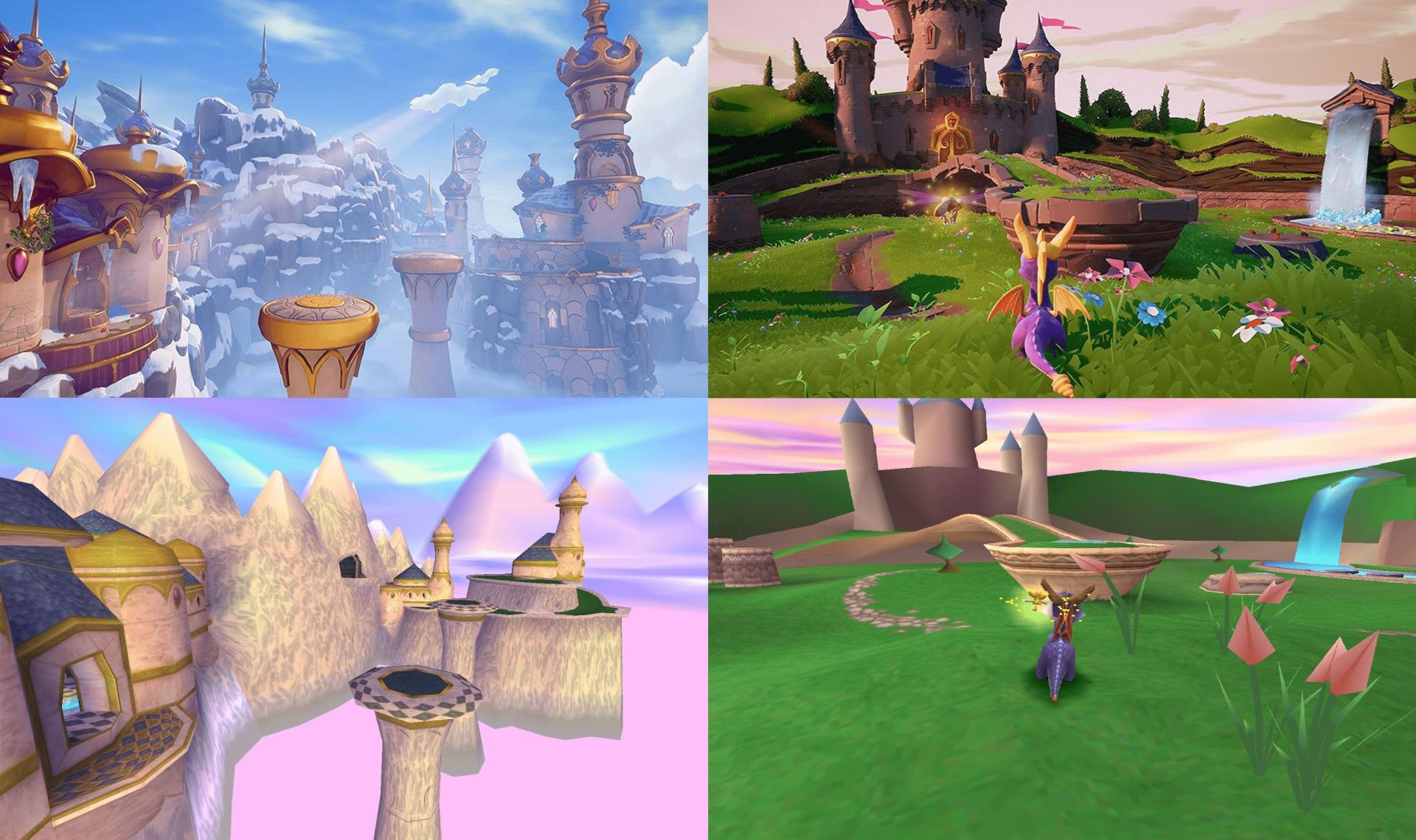 Spyro Reignited Trilogy comparison shots