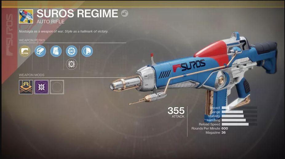 Destiny 2 SUROS Regime
