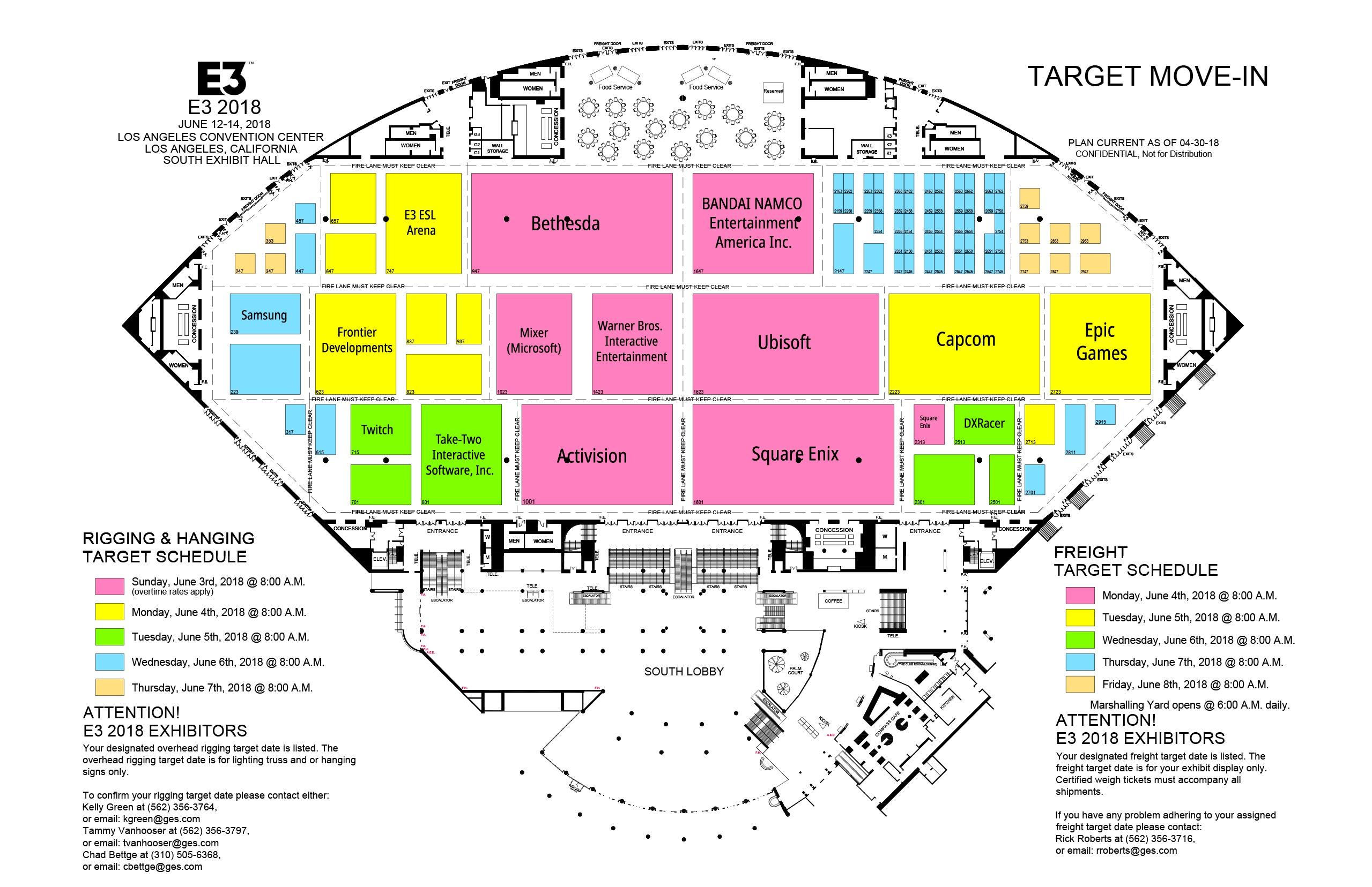E3 Floor map 1