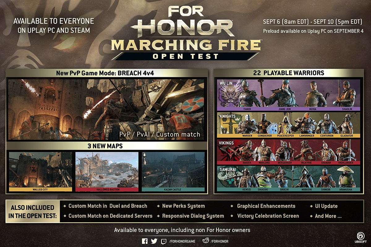 For Honor Marching Fire Open Test