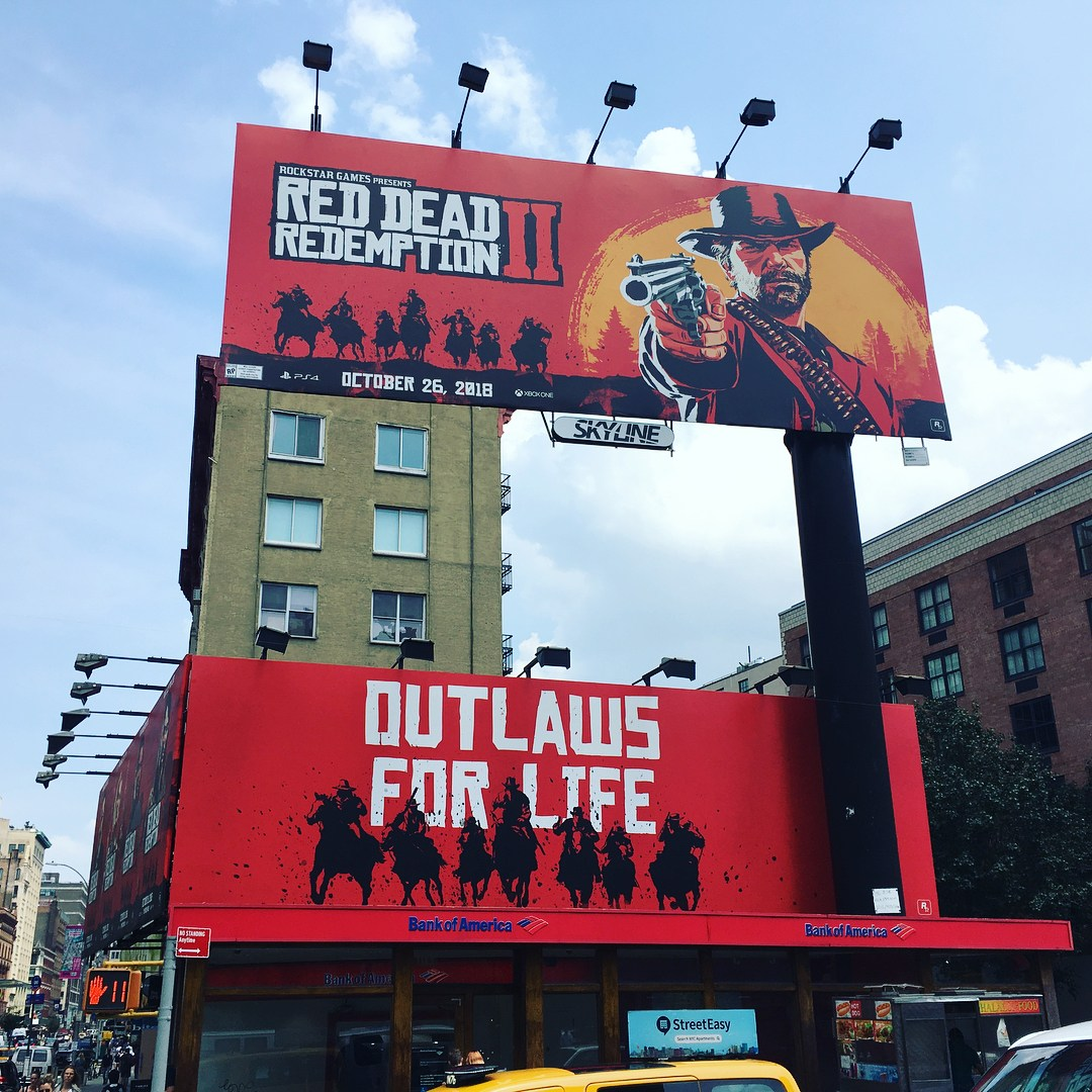 Red Dead Redemption 2 Is Now Being Advertised With Huge