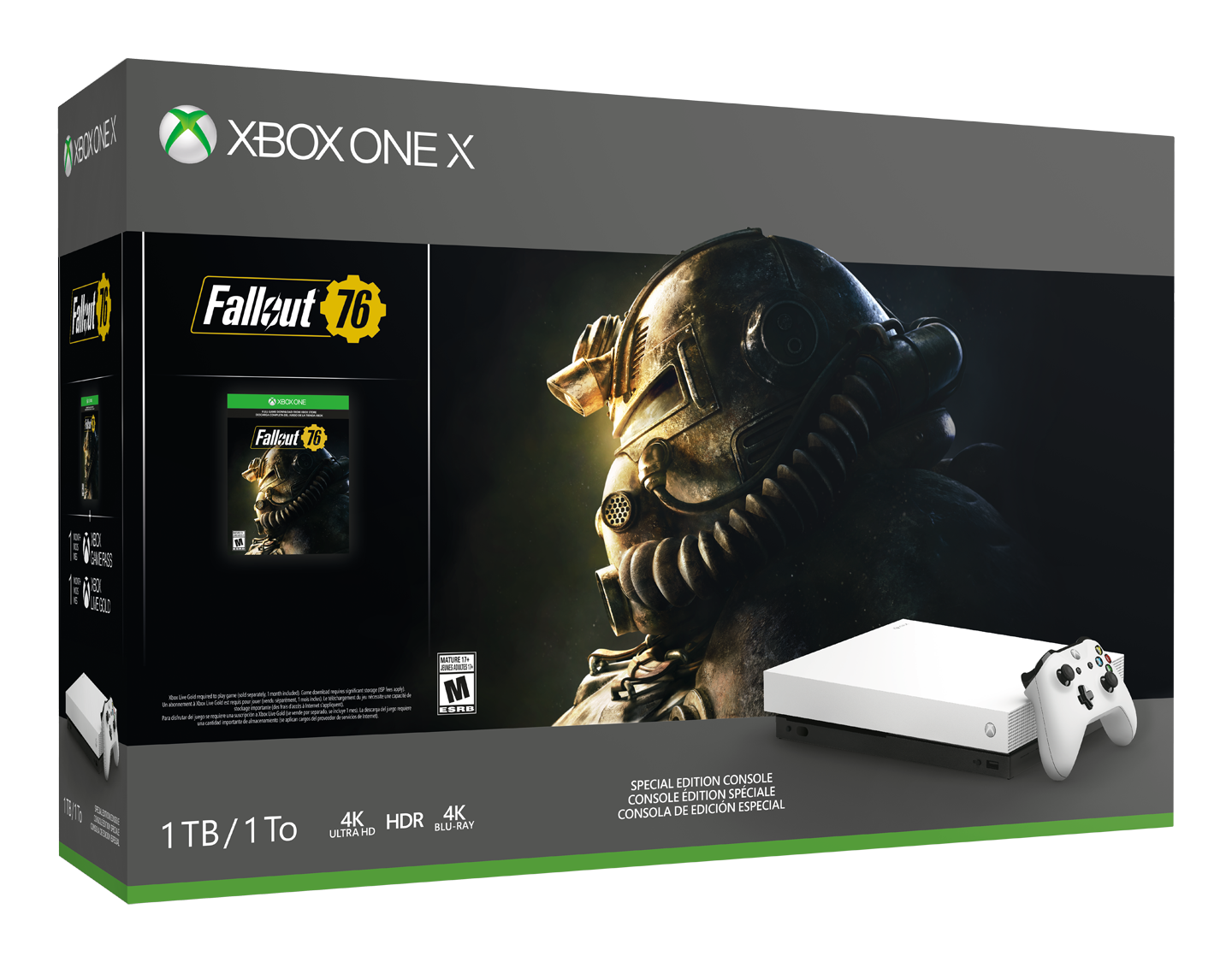 fallout 76 white xbox one x bundle