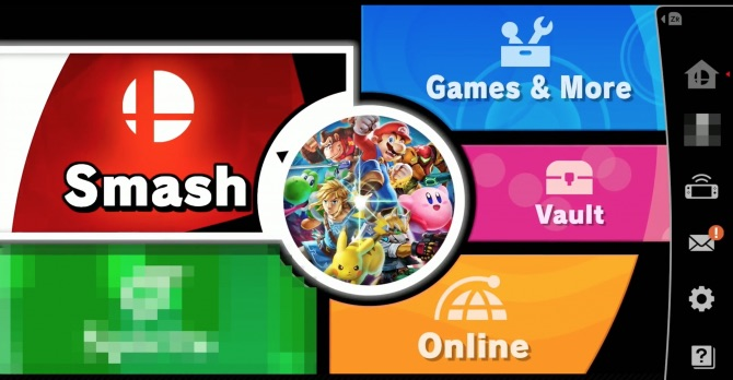 super smash bros. ultimate menu