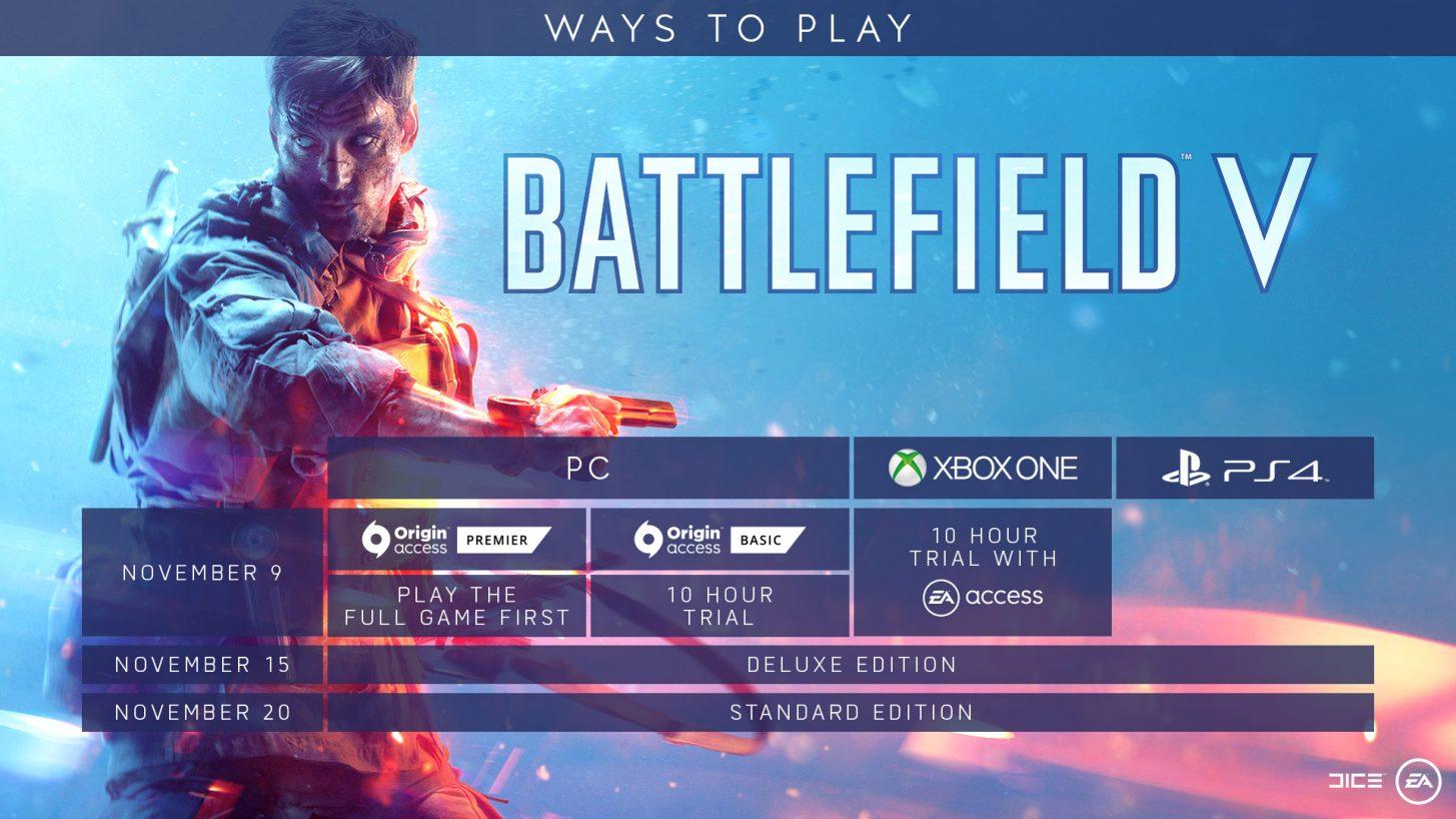 battlefield 5 schedule