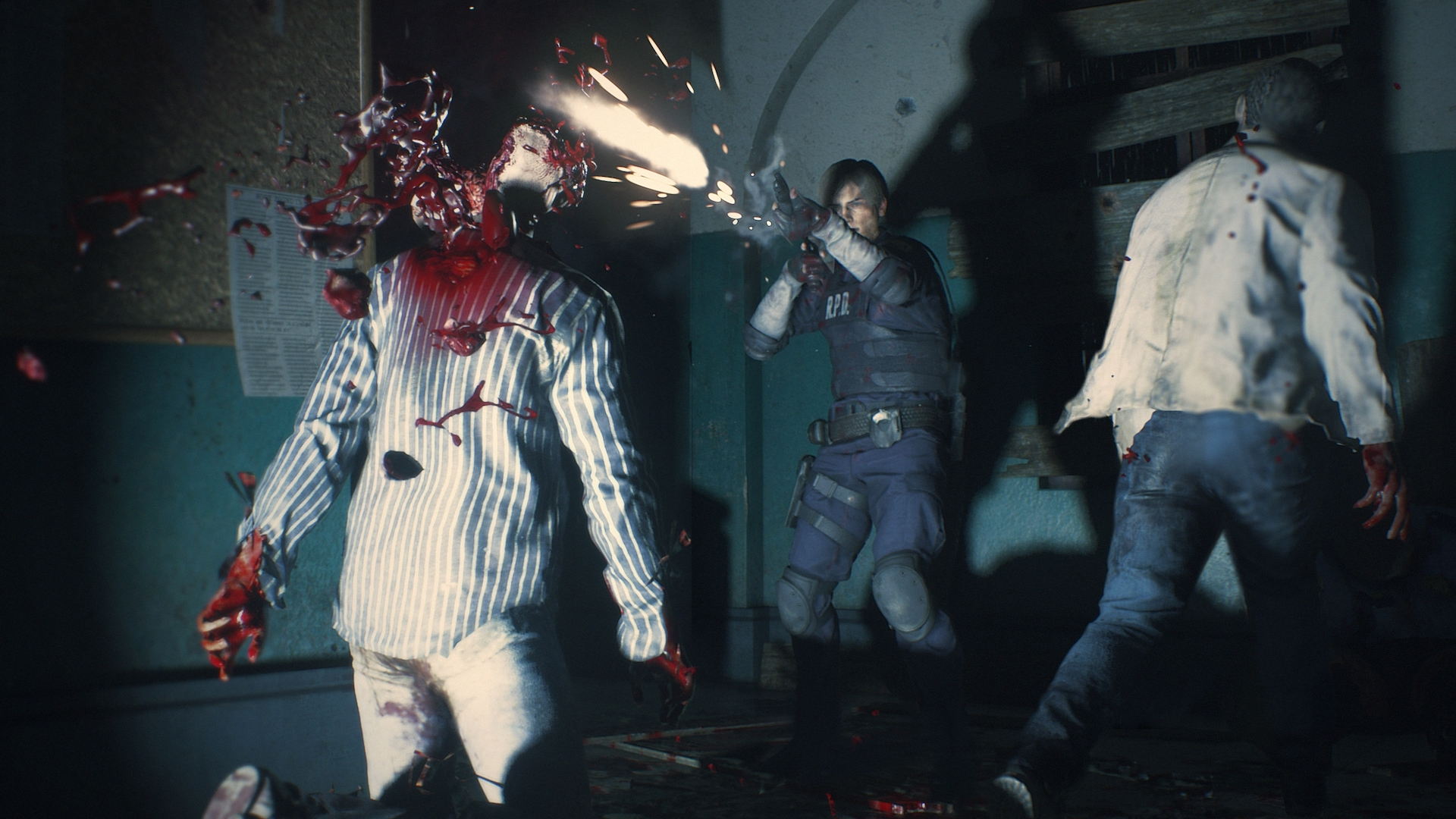 resident evil 2 remake hunk wallpaper