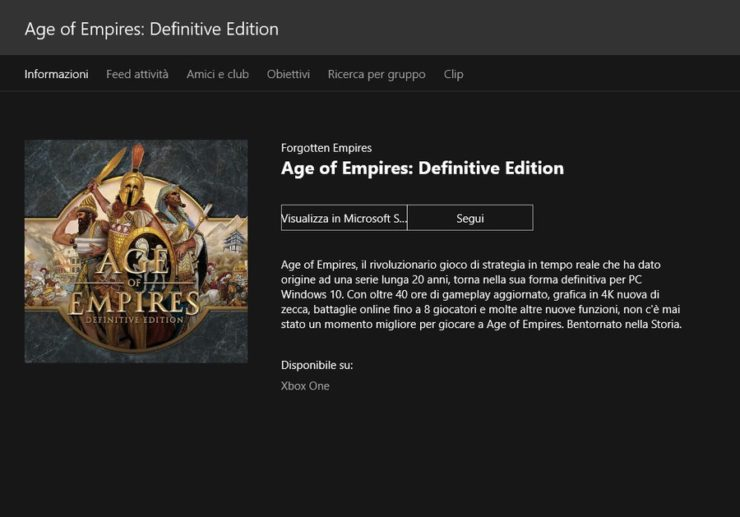 Definitive Edition von Age of Empires Xbox
