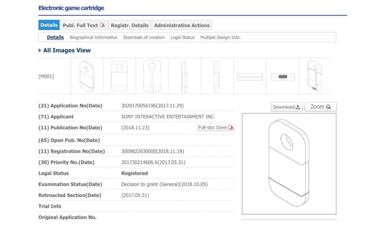 sony cartridge patent