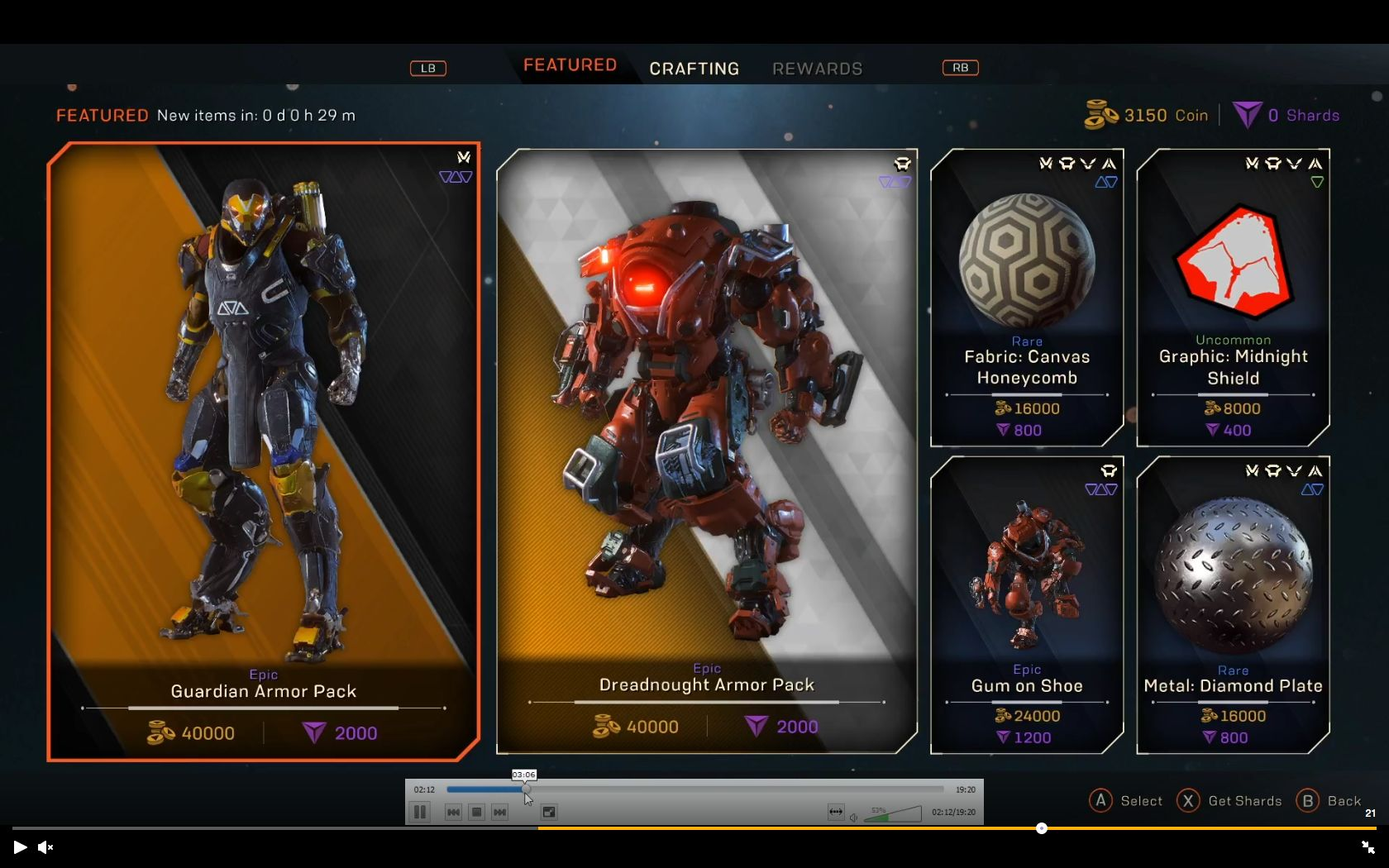 Anthem Demo Cosmetic Prices