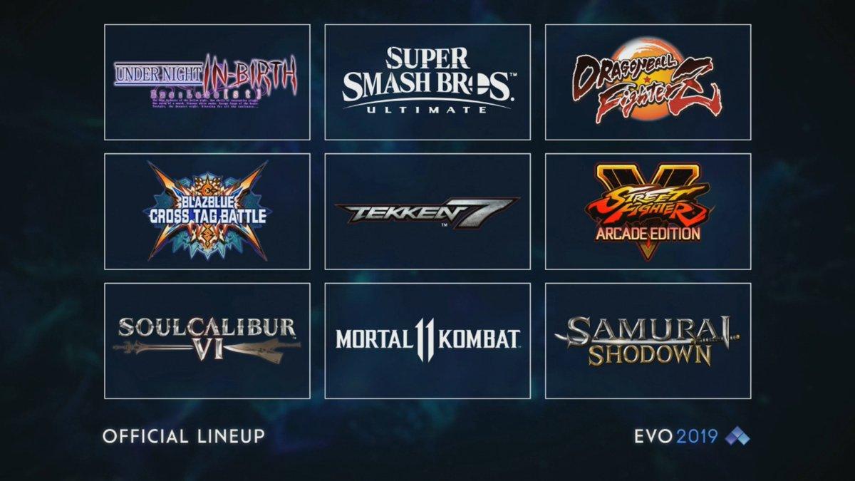 EVO 2019 Lineup