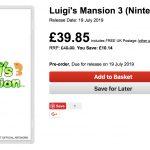 luigi's mansion 3 retailer listing