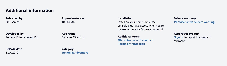 Control MS Store Leak