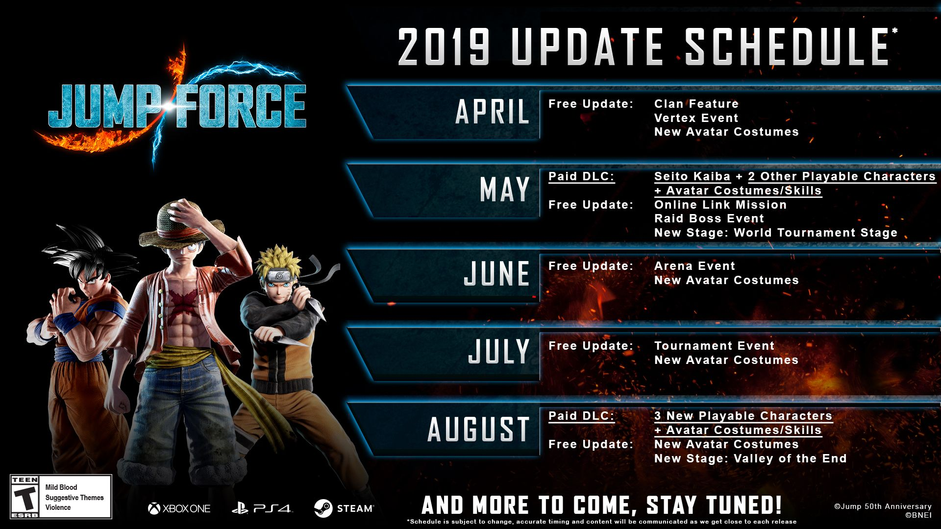 Jump Force_2019 Roadmap