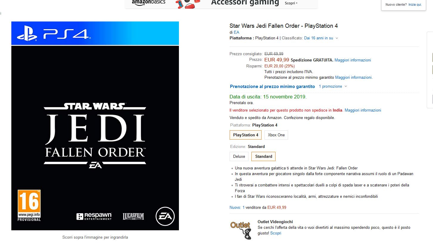 Star Wars Jedi Fallen Order_Amazon Italy