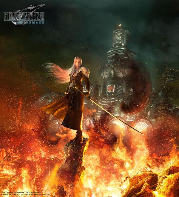 Final Fantasy 7 Remake_Sephiroth art