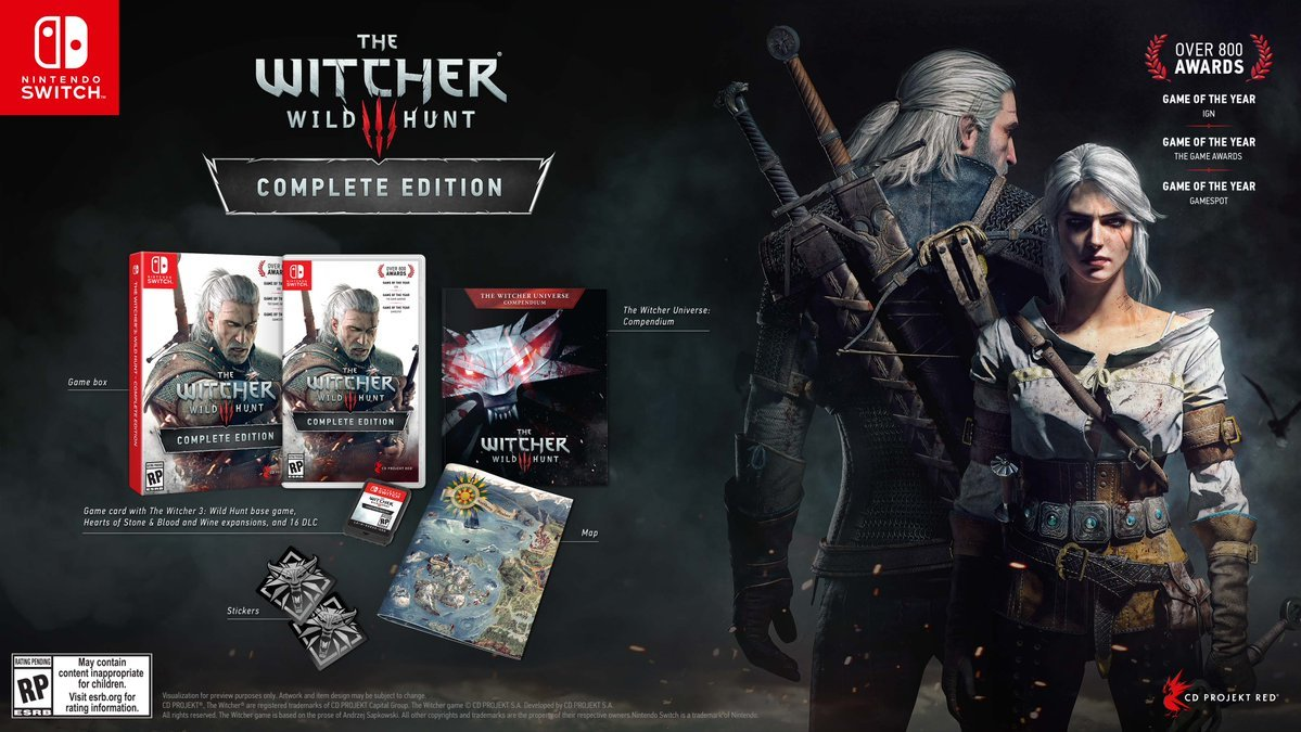 The Witcher 3 Switch bonus