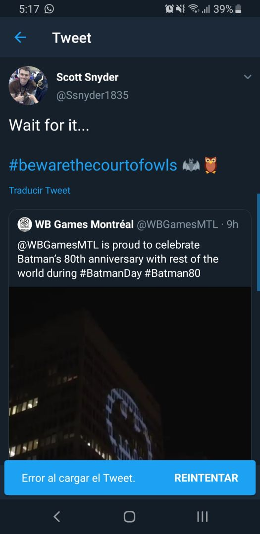 Batman Court of Owls tweet
