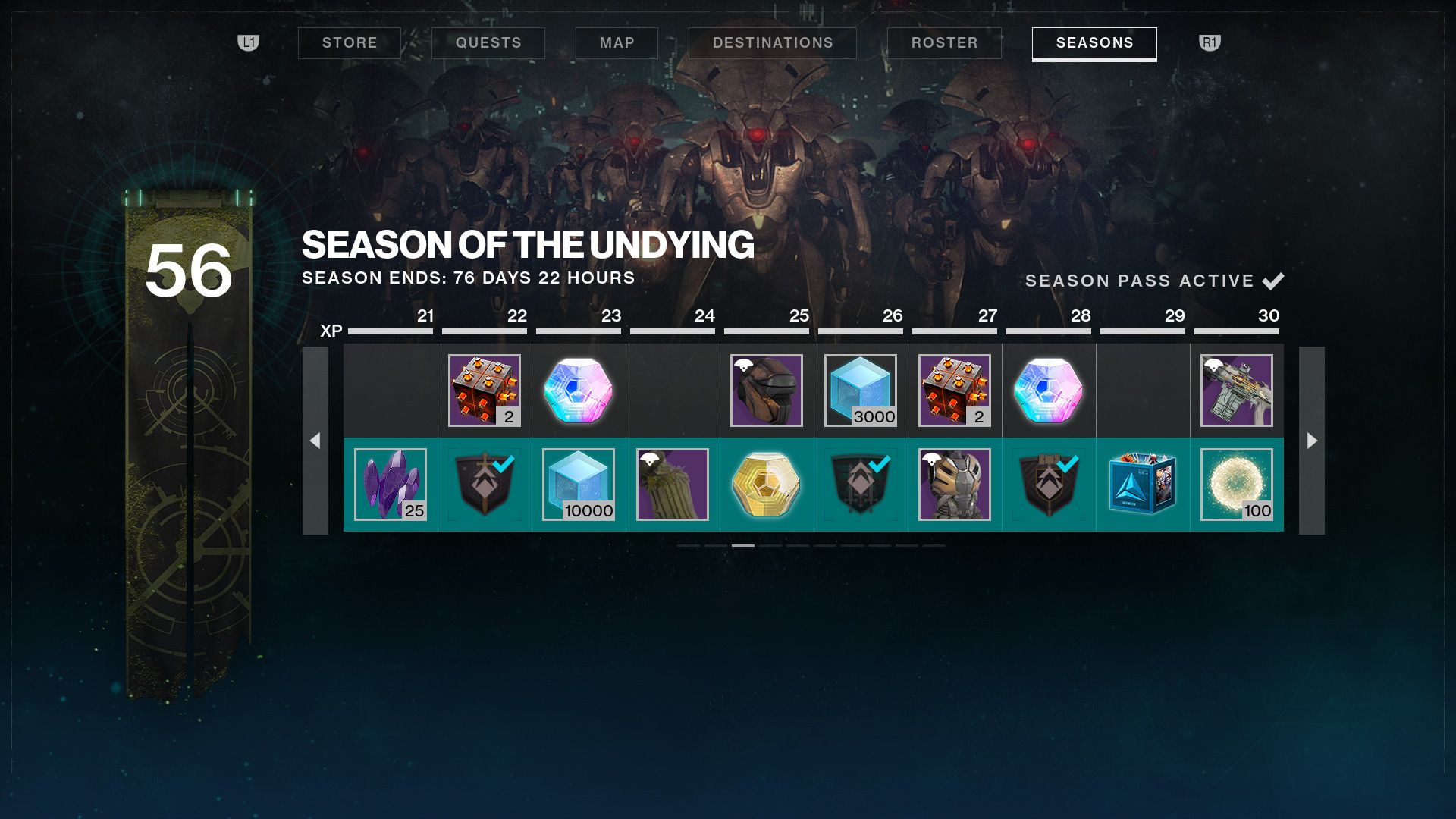 Destiny 2 Season of the Undying_Season Rank UI