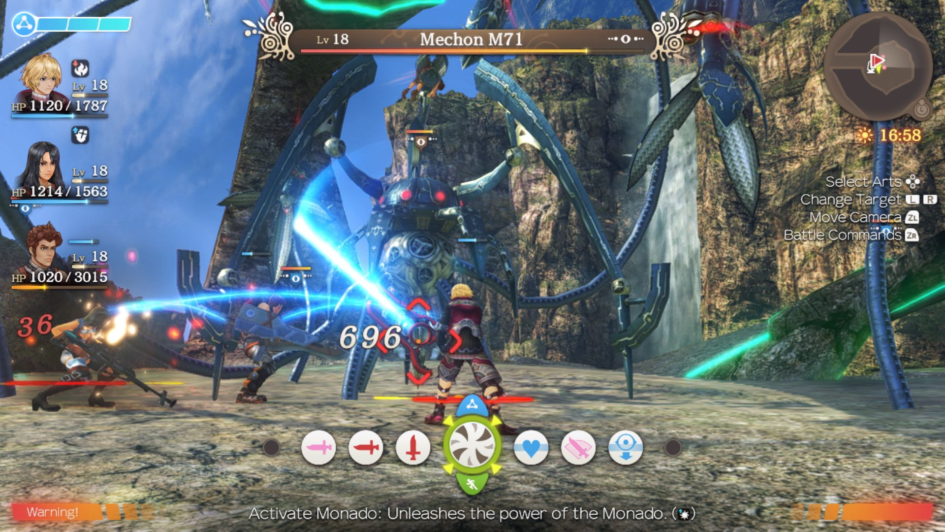 Xenoblade Chronicles Definitive Edition UI