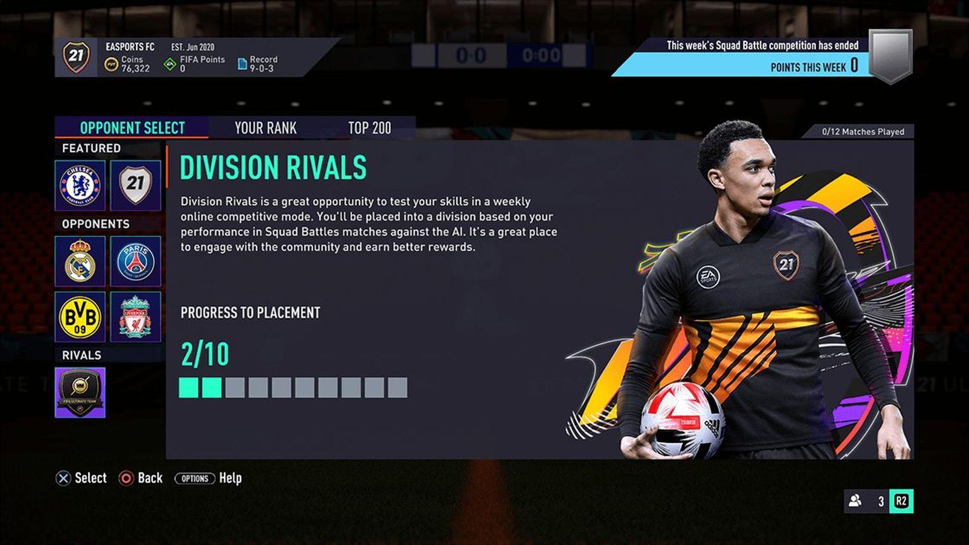 FIFA 21 - Division Rivals