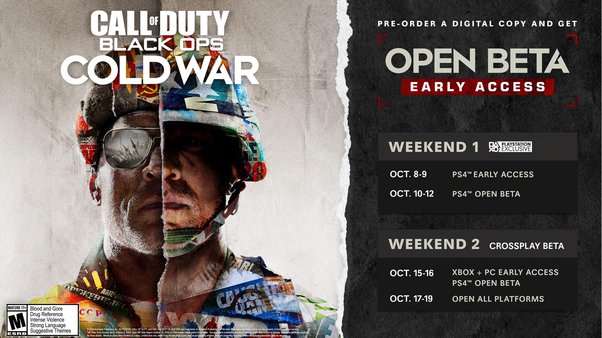 Confirmada la fecha de la beta de Call of Duty: Black Ops Cold War en Xbox One 1