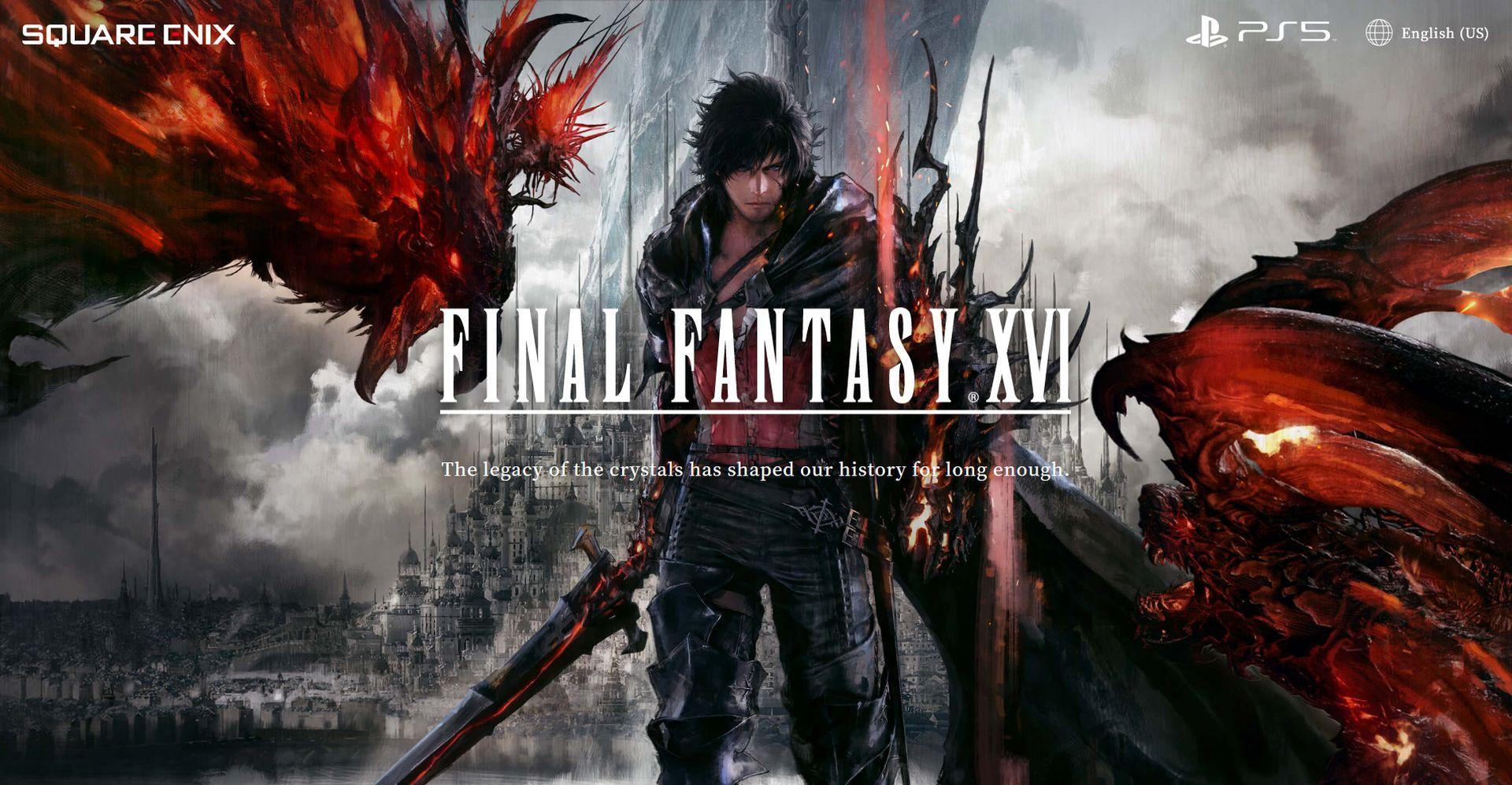 Final Fantasy 16 teaser site