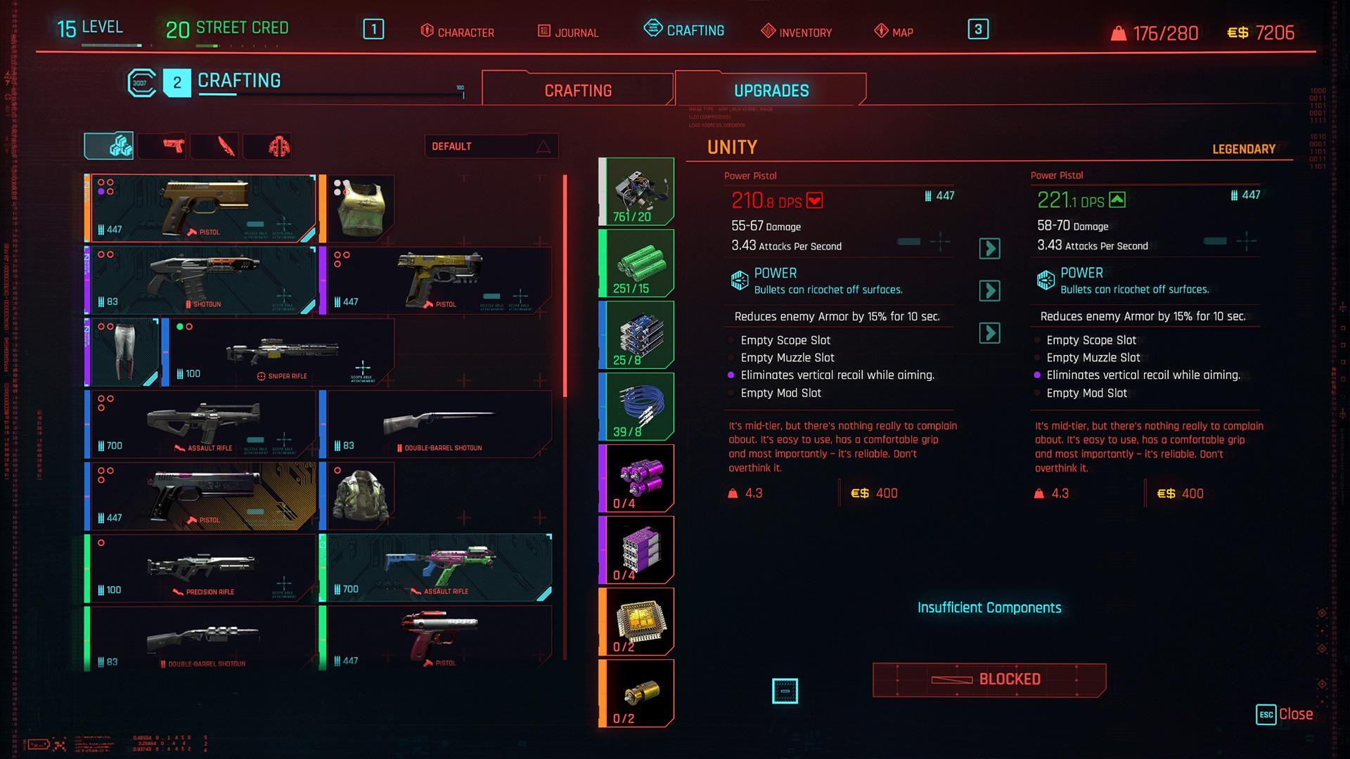 Cyberpunk 2077 - Crafting