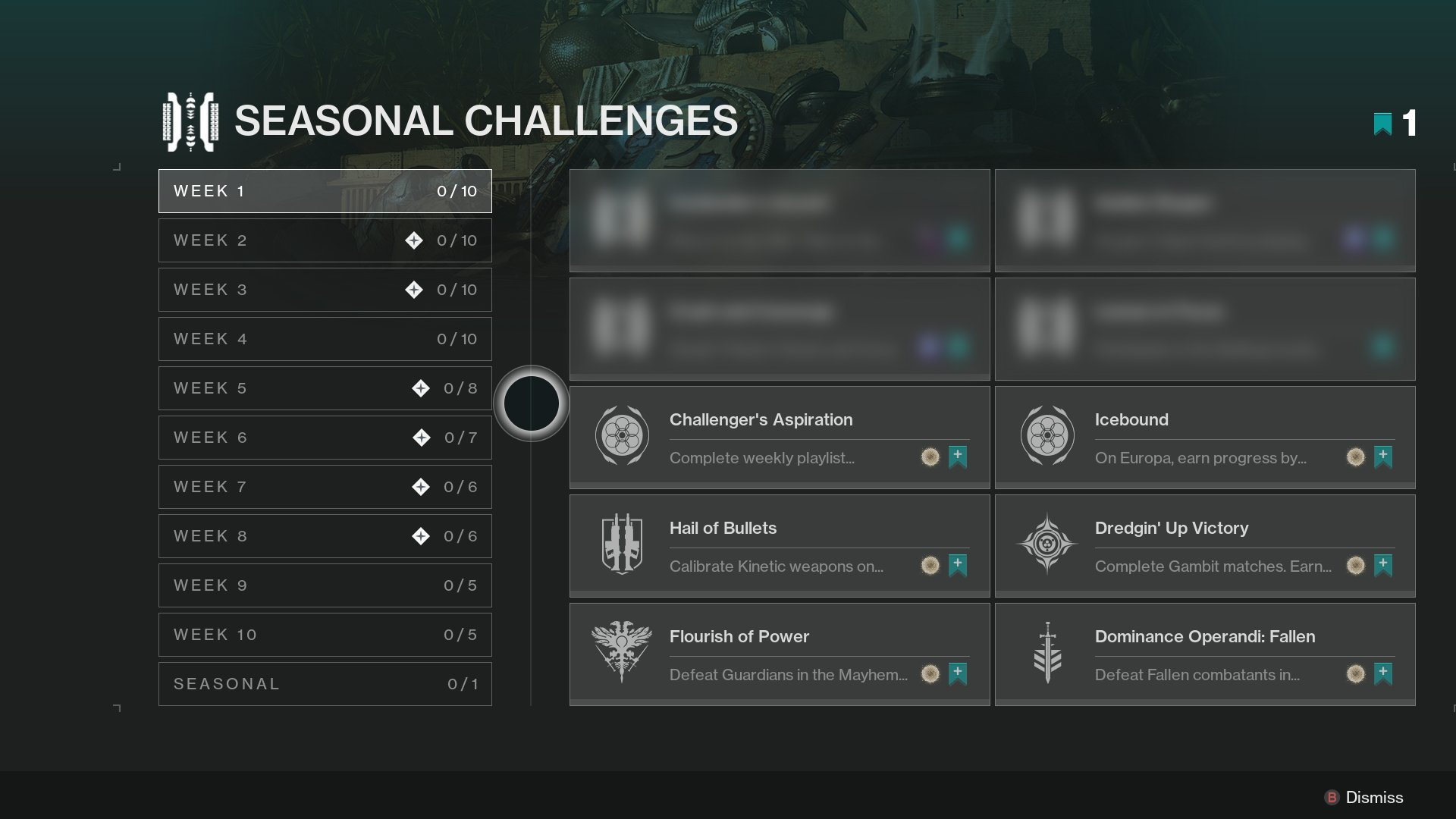 Destiny 2 - Seasonal Challenges