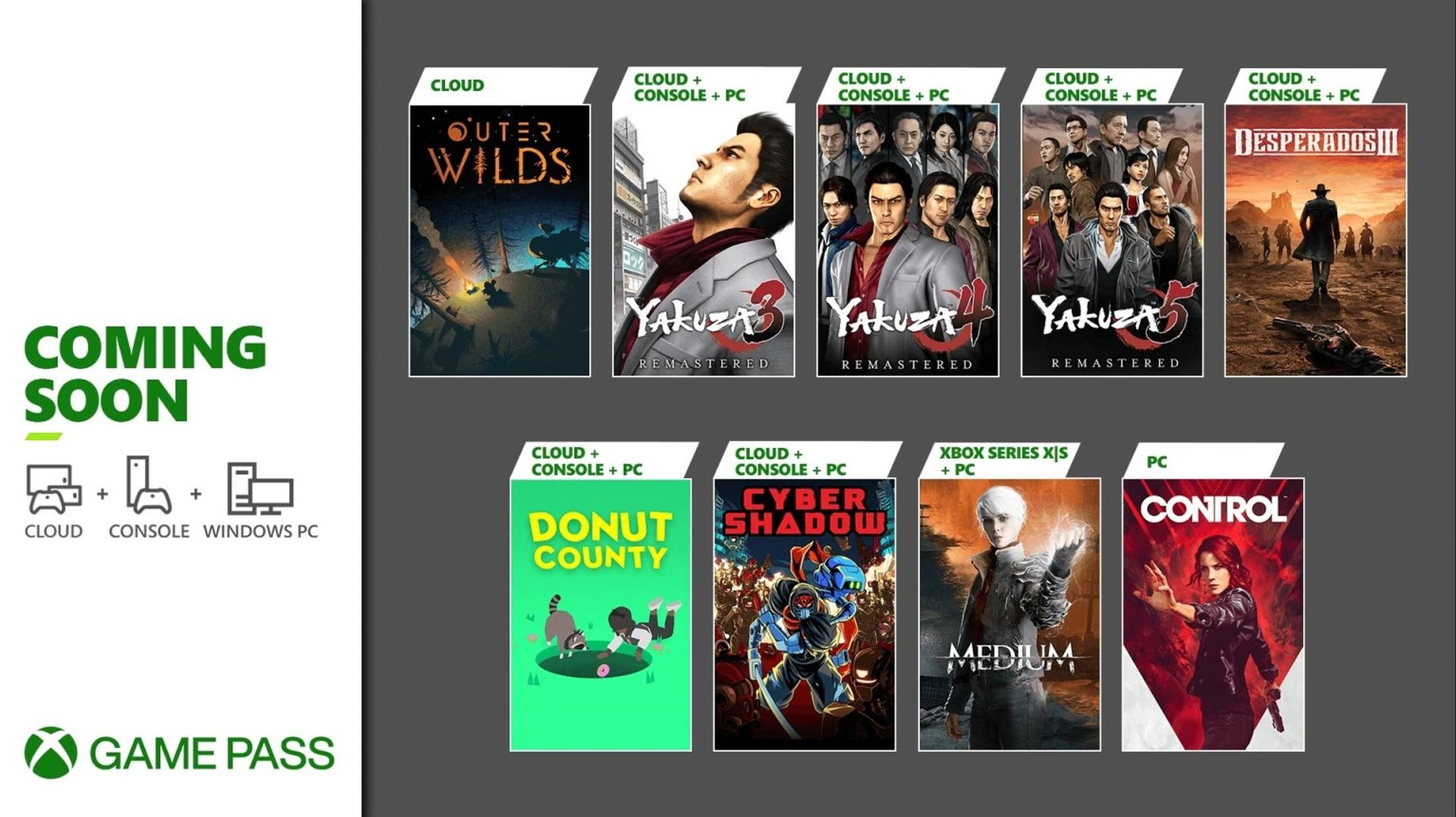 Xbox Game Pass - January 2021 - Wave 2