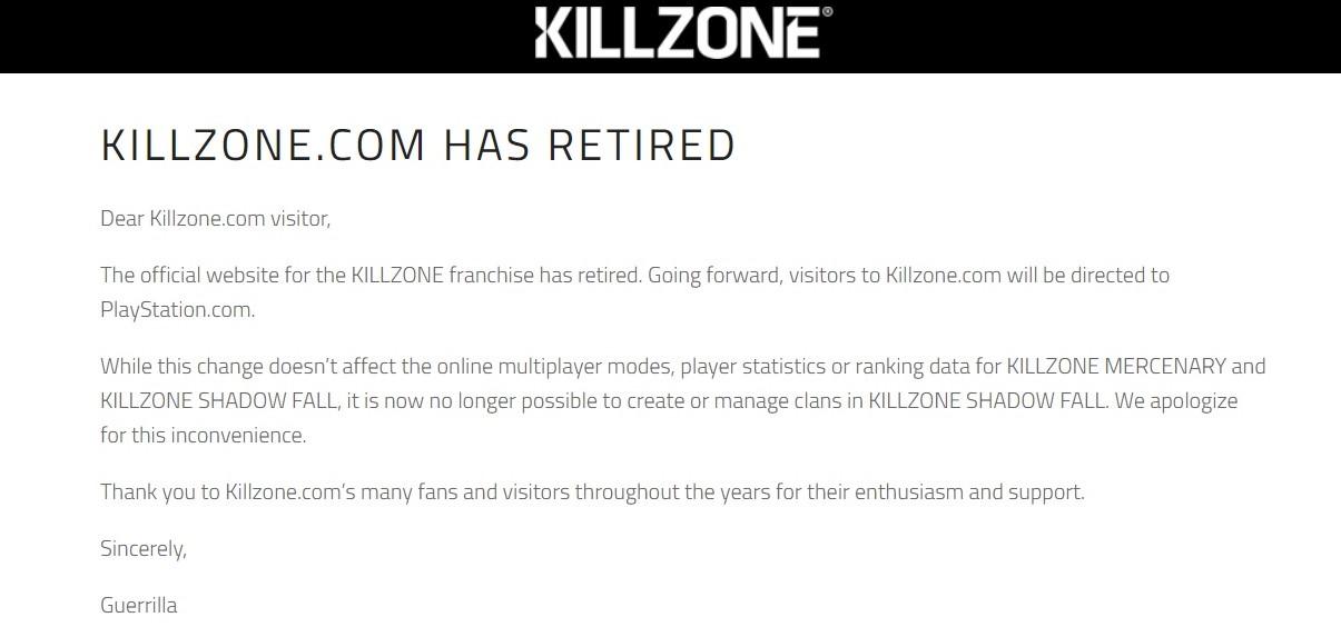 killzone website