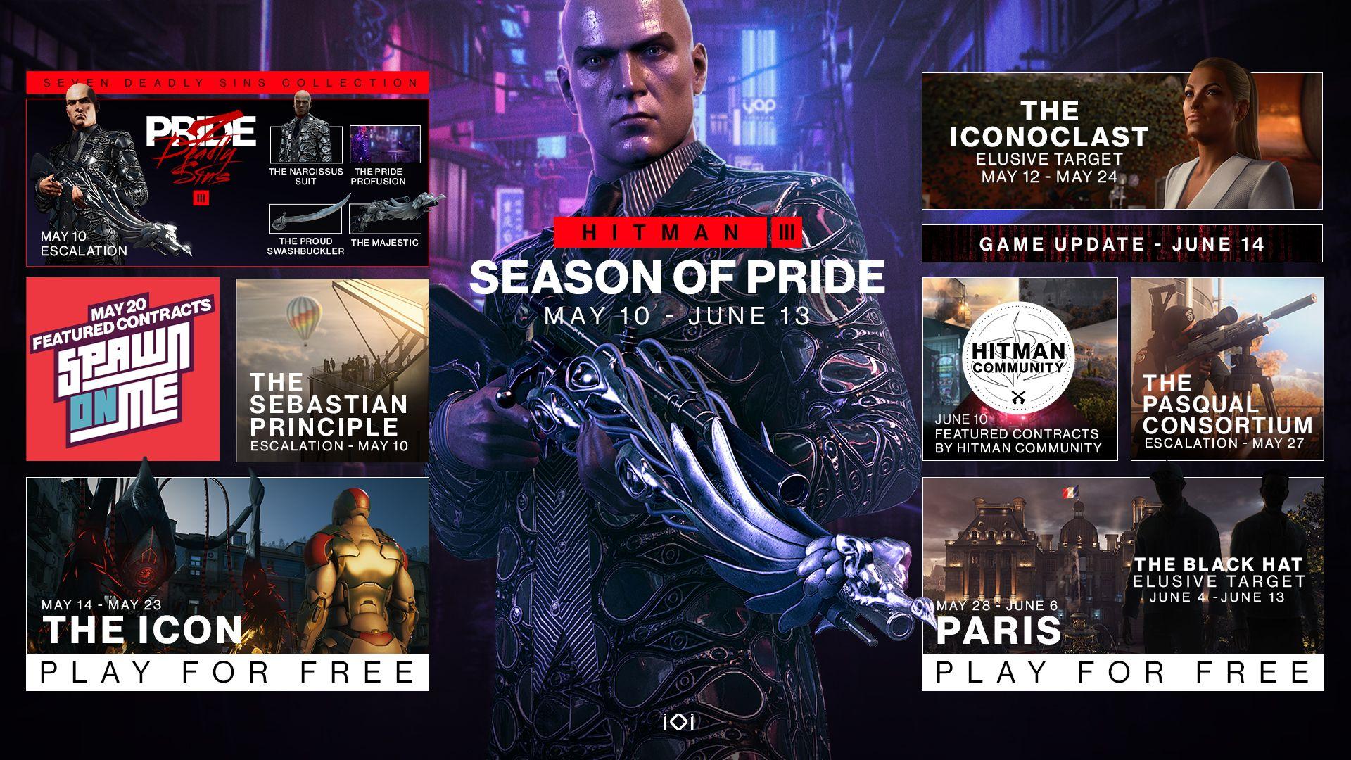 Hitman 3 - Season of Pride roadmap