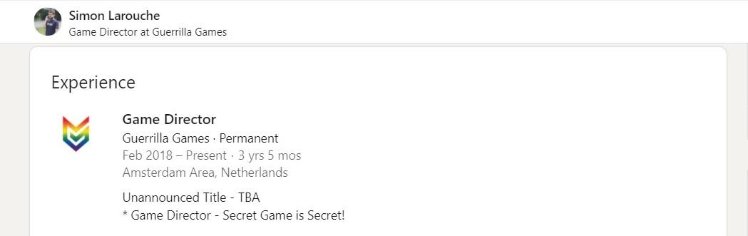 guerrilla games secret project