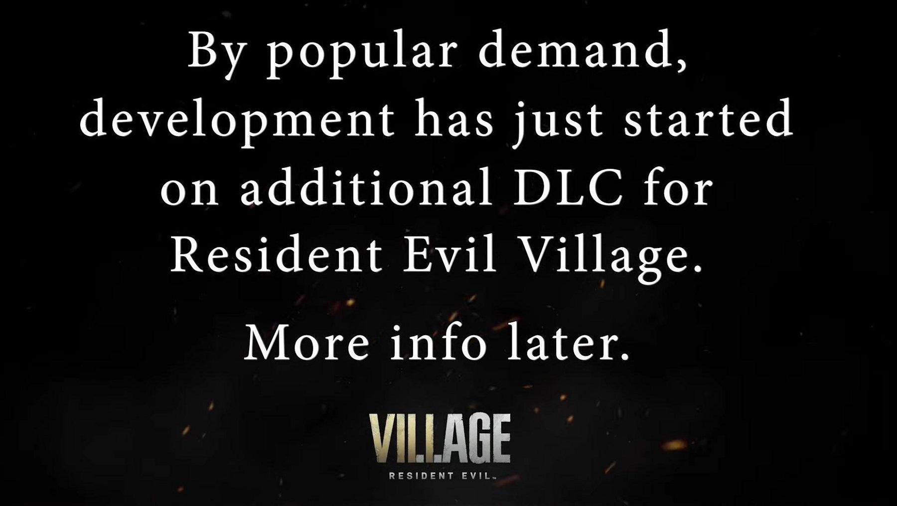 resident evil village dlc confirmed