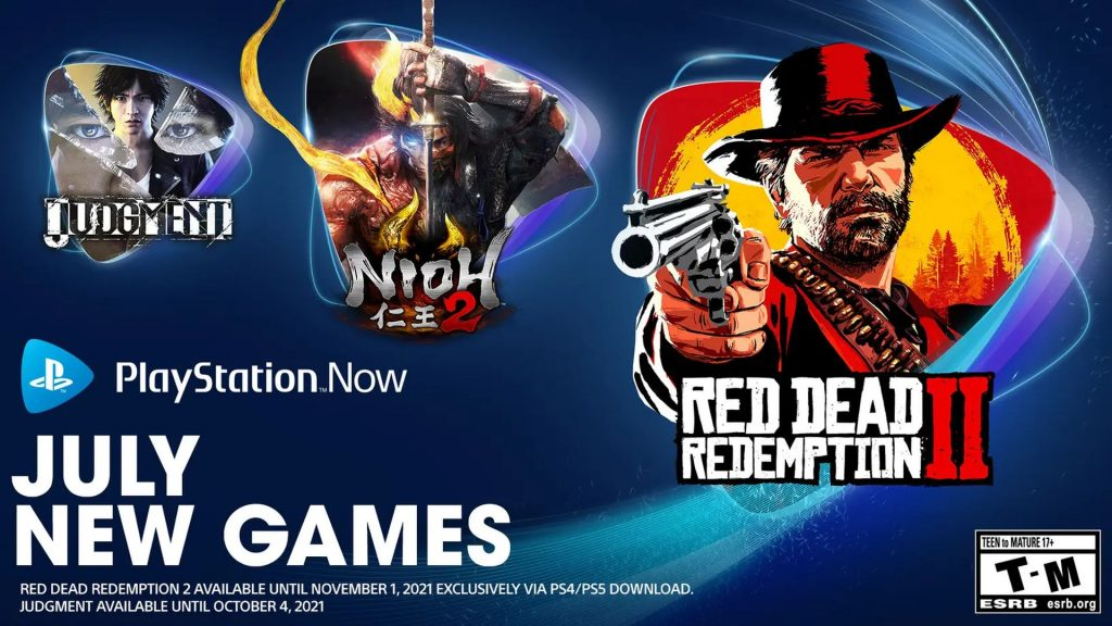 PlayStation Now_Nioh 2, Judgment and Red Dead Redemption 2