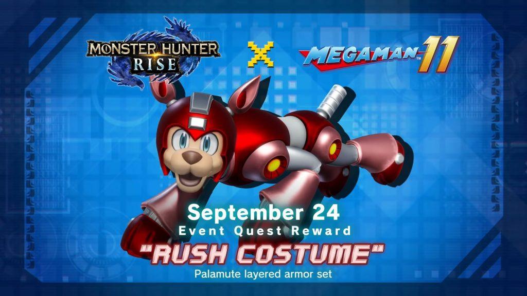 Monster Hunter Rise – Mega Man 11 Collab Revealed, Adds Rush Costume on September 24th